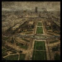 Paris Skyline V Framed Print