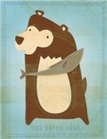 The Happy Bear Framed Print