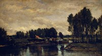 Boats On The Oise, 1865 Fine Art Print
