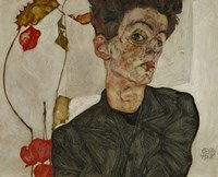 Self-Portrait With Chinese Lantern And Fruits, 1912 Fine Art Print