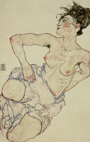 Kneeling Female Semi-Nude, 1917 Fine Art Print