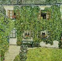 Forsthaus In Weissenbach Am Attersee - Forestry House In Weissenbach On Attersee-Lake, 1912 Fine Art Print