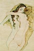 Zwei Frauen In Umarmung [Two Women Embracing], 1911 Fine Art Print