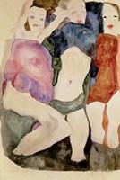 Three Girls, 1911 Fine Art Print