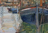 Boats Mirrored In The Water, 1908 Fine Art Print