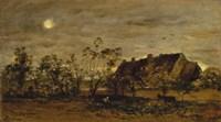 Evening At Honfleur Fine Art Print