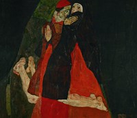 Cardinal And Nun (Liebkosung), 1912 Fine Art Print
