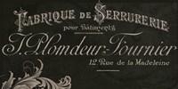 Signes Francais VII Framed Print