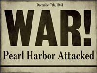 Pearl Harbor Framed Print