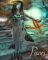 Art Nouveau Zodiac Pisces Fine Art Print