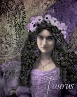 Art Nouveau Zodiac Taurus Fine Art Print