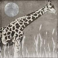Moon Giraffe Framed Print