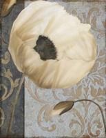 Poppy Brocade I Framed Print