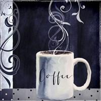 Cafe Blue I Framed Print