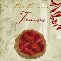 Tartes Francais, Strawberry Framed Print