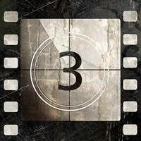 Vintage Countdown III Framed Print