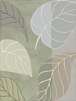 Leaf Story V Framed Print