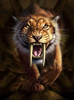 Saber-toothed Tiger Fine Art Print