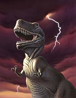 Tyrannosaurus Rex in a Storm Fine Art Print