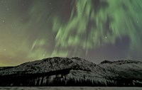 Aurora Borealis over Mountain Fine Art Print