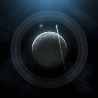 Planet and Rings Fine Art Print