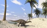 Dicraeosaurus in a Prehistoric Environment Fine Art Print