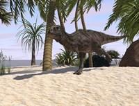 Majungasaurus Running Fine Art Print