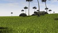 Lystrosaurus in a Grassy Field Fine Art Print