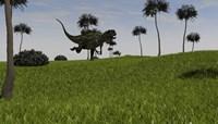 Yangchuanosaurus Running Fine Art Print