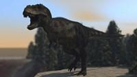 A Fierce Tyrannosaurus Rex Fine Art Print