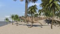 Ceratosaurus Running Fine Art Print