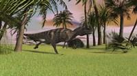 Ceratosaurus Running Across a Field Fine Art Print