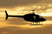 Bell 206 utility helicopter Fine Art Print
