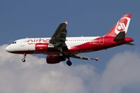 Airbus A320 of Air Berlin Fine Art Print