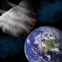 Asteroid Approaching Earth Fine Art Print