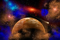 Colorful Star System Fine Art Print