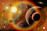 Planetary System in Nebula Fine Art Print