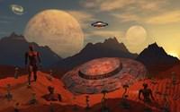 Alien Flying Saucer Fine Art Print