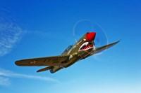 A P-40E Warhawk Fine Art Print