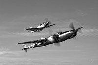 A P-38 Lightning and P-51D Mustang Fine Art Print