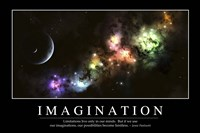 Imagination: Inspirational Quote and Motivational Poster Fine Art Print