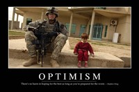 Optimism: Inspirational Quote and Motivational Poster Fine Art Print