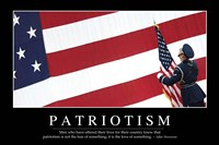 Patriotism: Inspirational Quote and Motivational Poster Fine Art Print
