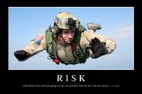 Risk: Inspirational Quote and Motivational Poster Fine Art Print