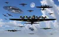 UFO Sightings during World War II Fine Art Print