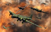 American and German Aircraft Fine Art Print