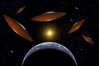 Flying Saucers Fine Art Print