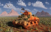 A World War II American Sherman Tank Fine Art Print