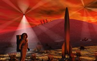 Alien Red Planet Fine Art Print