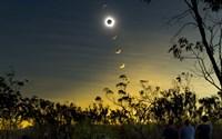 Solar Eclipse Composite Fine Art Print